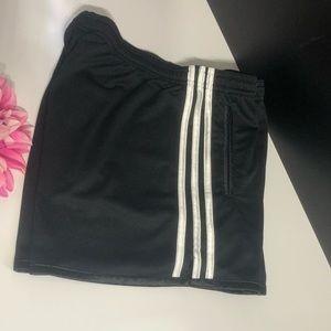 Adidas active short Black w/side White Stripes